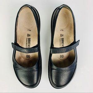 Birkenstock 245 Iona Shoes 38 Black Mary Jane Soft